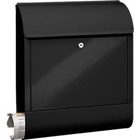 Burg Wächter Briefkasten Scandic, mit Zeitungsbox, Einwurf DIN C4, abschließbar, Schwarz