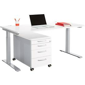 Büromöbelset 2-tlg. MODENA FLEX, höhenverstellb...
