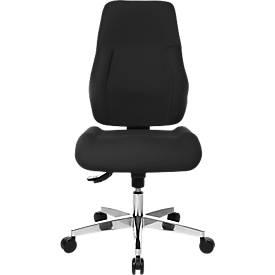Bürostuhl FEEL GOOD, ohne Armlehnen, extra großer Muldensitz, orthopädische Lehne