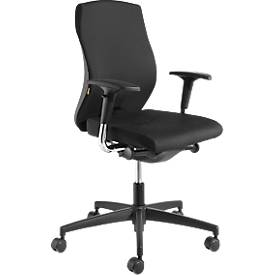 Bürostuhl NOW 1, ohne Armlehnen, Synchronmechanik, belastbar bis 120 kg