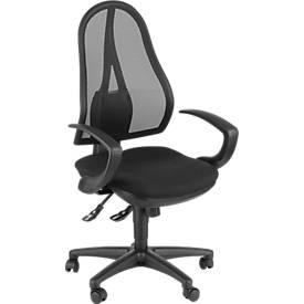 Bürostuhl Open Point SY, ohne Armlehnen, Synchronmechanik, Bandscheibensitz