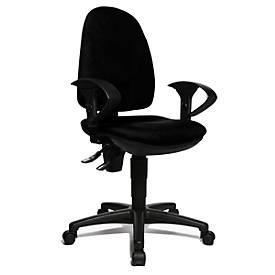 Bürostuhl POINT 300, mit Armlehnen, Bandscheibensitz, höhenverstellbar