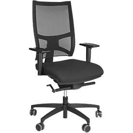 Bürostuhl Polo, ohne Armlehnen, Synchronmechanik, Anti-Schock-Technik