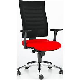 Bürostuhl SSI Proline S2, mit Armlehnen, Synchronmechanik, Bandscheibensitz