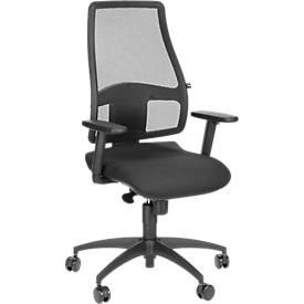 Bürostuhl Synchro Net, ohne Armlehnen, Synchronmechanik, Bandscheibensitz