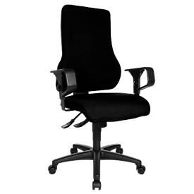 Bürostuhl Top Point, ohne Armlehnen, Synchronmechanik, ergonomische Rückenlehne