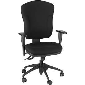 Bürostuhl Wellness 300, mit Armlehnen, extra hohe Rückenlehne, Synchronmechanik