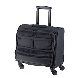 Business-Laptop-Overnight-Trolley, Nylon, Teleskopsystem, 360°-Leichtlauf-Rollen, B435xT230xH440 mm