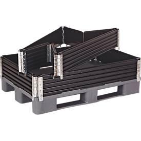 Cadre pour structure de palette, 4 charnières, 4 unités, noir