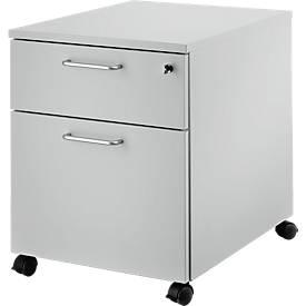 Caisson mobile 36, 1 tiroir + tiroir à dossiers suspendus, l. 442 x P 600 x H 552 mm