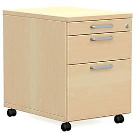 Caisson mobile BEXXSTAR, 1 + 1 tiroirs, tiroir à dossiers suspendus, l. 430 x P 600 x H 600 mm