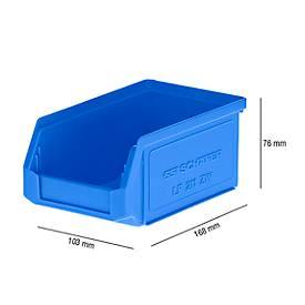 Caja con abertura frontal LF 211, plástico, 0,9l, azul