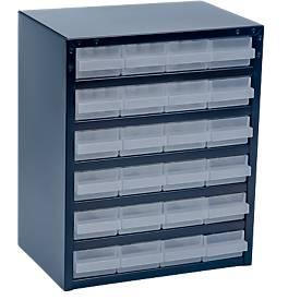 Cajonera-almacén de acero, 24 cajones, Al 440 x An 360 x P 250mm