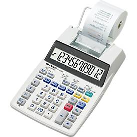Calculette Sharp EL-1750 V, affichage LCD 12-chiffres