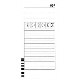 Carte de pointage BÜRK, codée, pour système de saisie horaire K875/K895