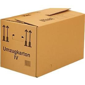 Cartons de déménagement, onde simple, 25 pièces