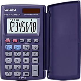 CASIO® bureaurekenmachine HS-8VER, 8 cijfers, met beschermklep