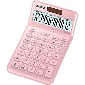 CASIO® Rekenmachine JW-200 SC, 12 cijfers met extra groot BIG LC-display, op zonne- of batterijvoeding, roze