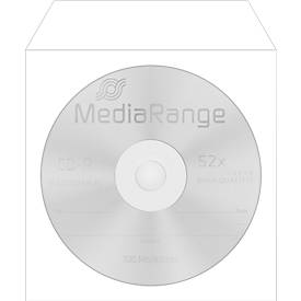 CD-/DVD-papieren hoesjes, hersluitbaar, zichtvenster, wit, 50 stuks