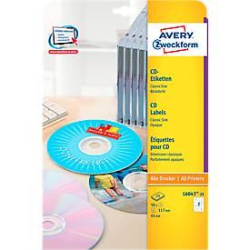 CD-Etiketten Classic Size