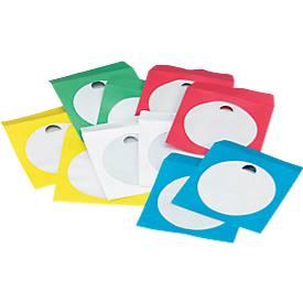 CD/DVD-Papierhüllen, farbig sortiert