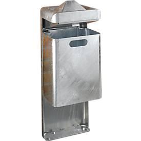 Cendrier sur pied/poubelle, 35 l, galvanisé