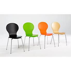 Chaise empilable CA 445, set de 4 chaises, naturel