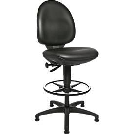 Chaise pivotante TEC 50 avec patins et anneau repose-pieds