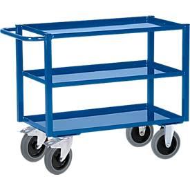 Chariot à 3 plateaux métalliques - Capacité 350 kg