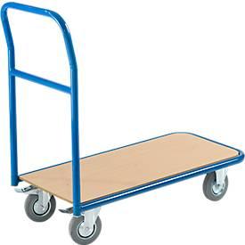Chariot à dossier fixe. Capacité: 200 kg