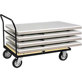 Chariot à dossier fixe. Capacité: 500 kg