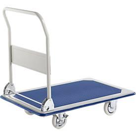 Chariot à dossier rabattable. Capacité: 250kg