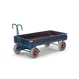 Chariot à timon avec ridelles, 960 x 660 mm