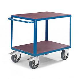 Chariot de montage à 2 plateaux. Capacité 1000 kg