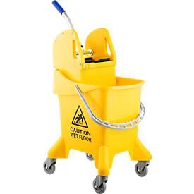Chariot de nettoyage 1 seau, 37 litres
