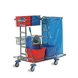 Chariot de nettoyage Maxi Universal, chromé