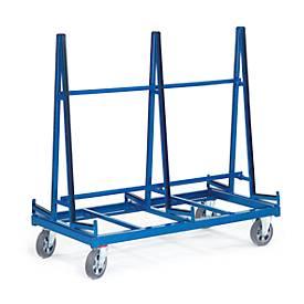 Chariot de transport de plaques avec surface d'appui de deux côtés
