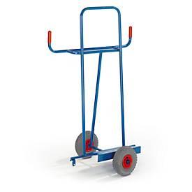 Chariot pour le transport de plaques en longueur, roules à bandages pleins
