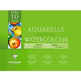 Clairefontaine Aquarellblock ETIVAL, rau, 10 Blatt