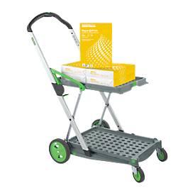 CLAX® chariot pliable, avec bac de transport + 2500 feuilles photocopies GRATUITES