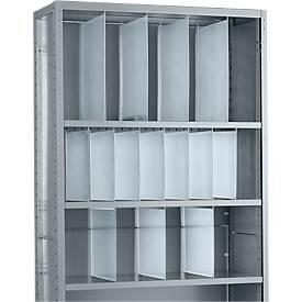 Cloison de séparation, pleine largeur comme accessoire pour des étagères