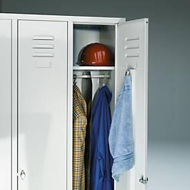 Cloison médiane de séparation sous l'étagère à chapeaux