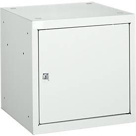 Coffre intérieur en métal, gris clair (RAL 7035)