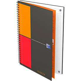 Collegeblock Oxford International Notebook, B5, geruit, 80 g/m², compatibel met SCRIBZEE®, 80 vellen, 5 stuks, met SCRIBZEE®.