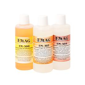 Complete set ultrasone reinigerconcentraten EMAG workshop, 3 x 100 ml per stuk, voor werkplaatsen