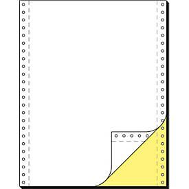 Computer Endlospapier, gelbe Kopie, 2-fach blanko, 1000 Stück