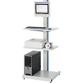 Computer-Ständer Typ 6018, stationäre oder mobile Ausführung, B 650 x T 650 x H 1850 mm