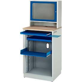 Computer-Station adlatus Typ 2015, B 720 x T 660 x H 1810 mm, stationär