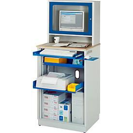 Computer-Station adlatus Typ 2015, stationäre oder mobile Ausführung, B 720 x T 660 x H 1810 mm