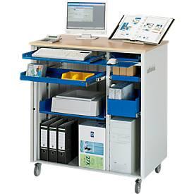 Image of Computer-Station adlatus Typ 6001, B 1030 x T 660 x H 1100 mm, fahrbar
